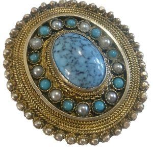 🇨🇦 Sterling silver filigree brooch pendant